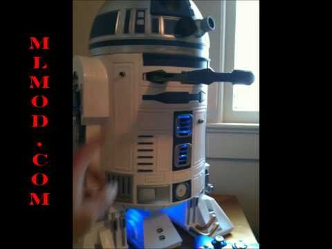 R2-D2 Xbox 360 Casemod mit Projektor