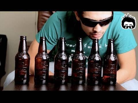 Mozart auf Bierflaschen