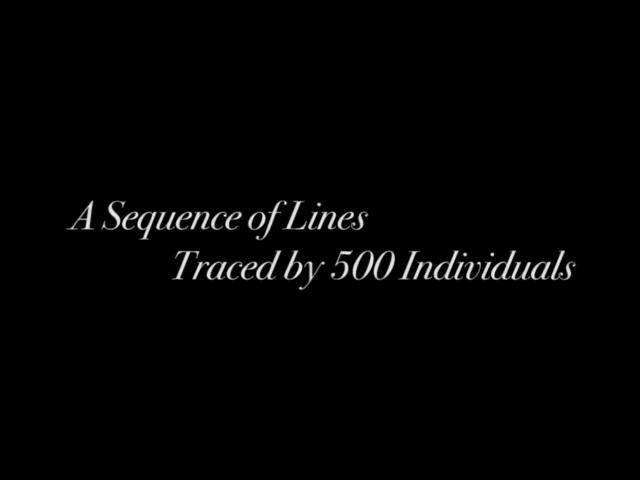 500 Leute malen eine Linie