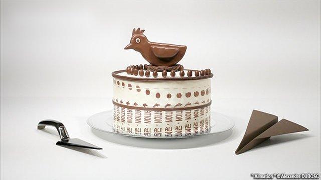 Animierte Kuchen-Schokokugel-Zoetrope