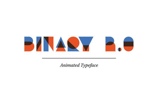 Animierte Schriftart: Binary 2.0