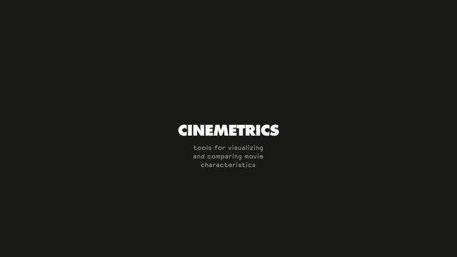 Cinemetrics: Film in einem Bild zusammen gefasst