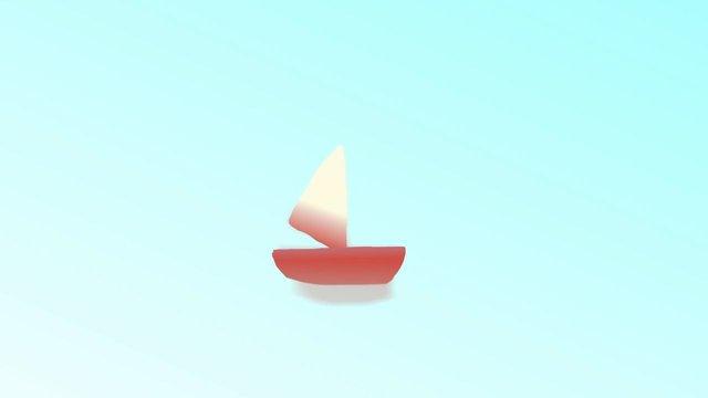 Das kleine animierte Boot