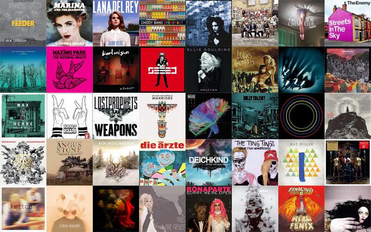 2012: Die besten 30 Alben des Jahres