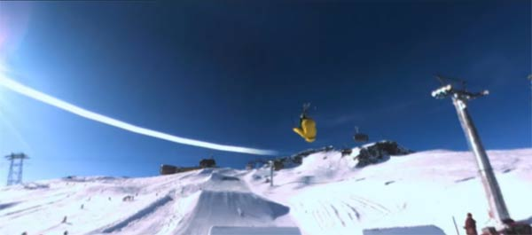 interaktive 360° Snowboard-Abfahrt