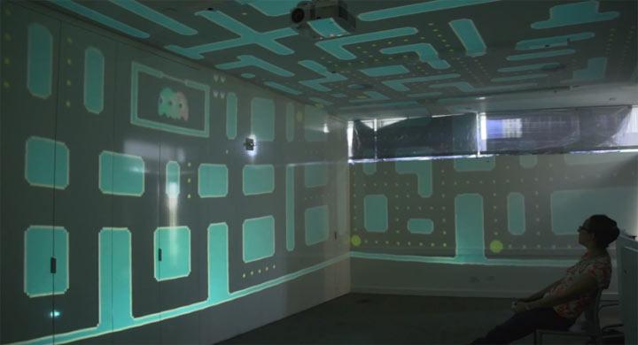 3D Pacman füllt kompletten Raum