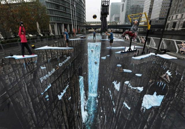 Weltgrößtes 3D Street-Painting