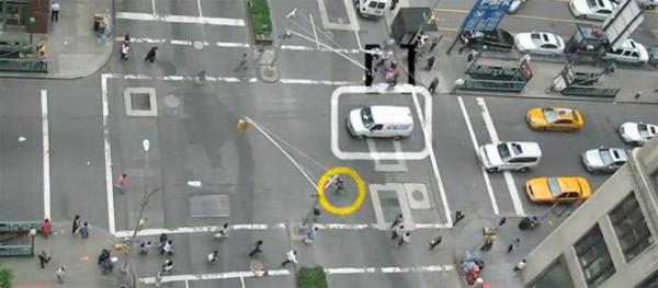 Gefahren einer New Yorker Kreuzung