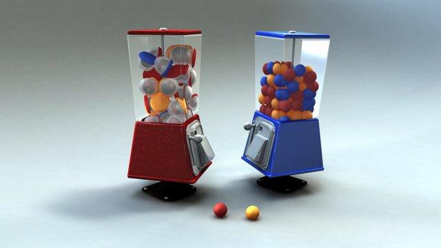 Kampf der Kaugummiautomaten