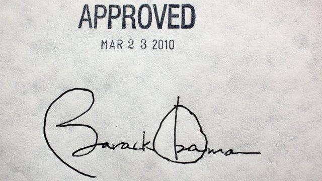 Interessant: Obamas krackelige Unterschrift