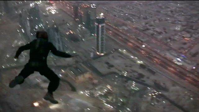 Weltrekordbasejump vom höchsten Gebäude der Welt