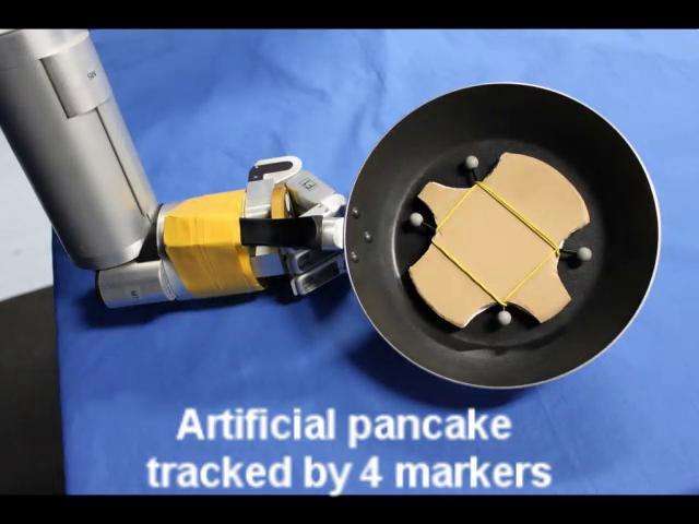 Roboter lernt Pfannkuchenwendewurftechnik