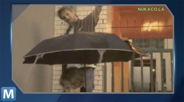 Regenschirm mit 8-Bit-Sounds