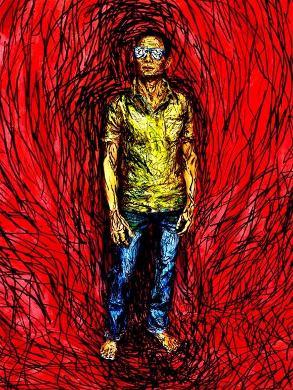 Künstlerisches Acryl-Bodypainting