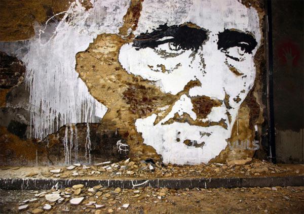 Streetart: Fassadenkratzgesichter