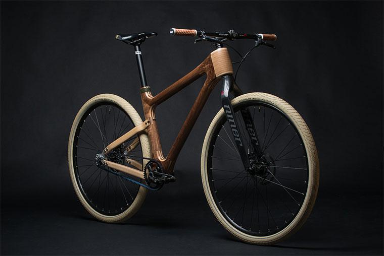 Stylisches Holzfahrrad