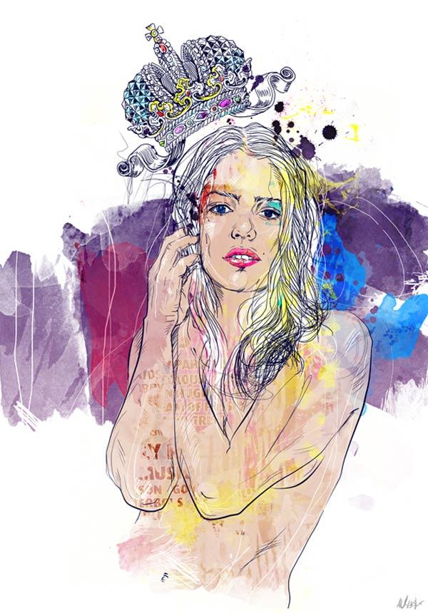 Knallige Illustrationen: Ania Uliash