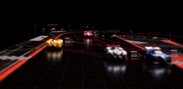 Analoges Rennspiel mit digitalen Features