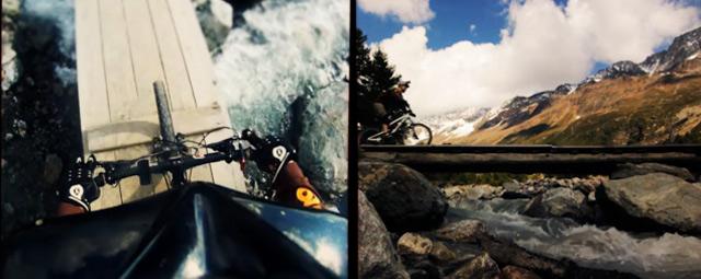 Zwei Perspektiven beim Mountainbiken – BI|KE