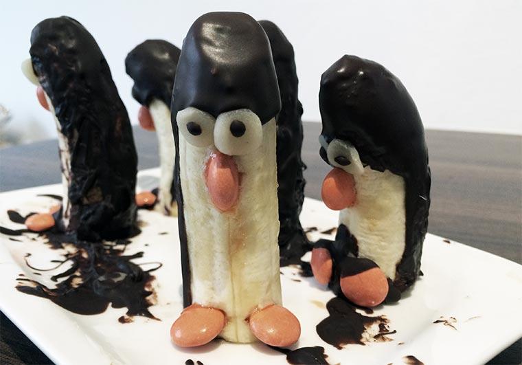 Bananen-Schokoladen-Pinguine