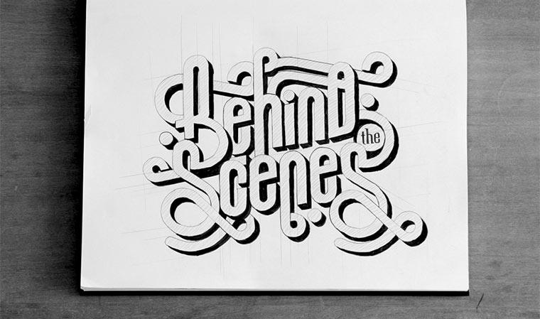 Typografie-Zeichnungen von Ben Johnston