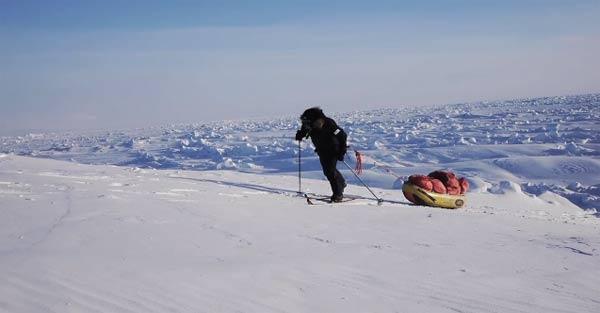 Rekord im zum Nordpol rennen