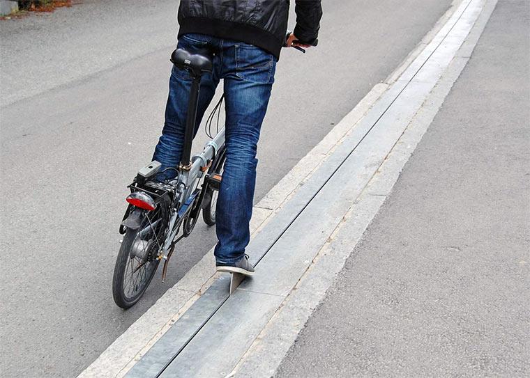 Der norwegische Fahrradlift