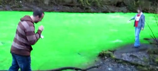 Lasset den Fluss grün werden