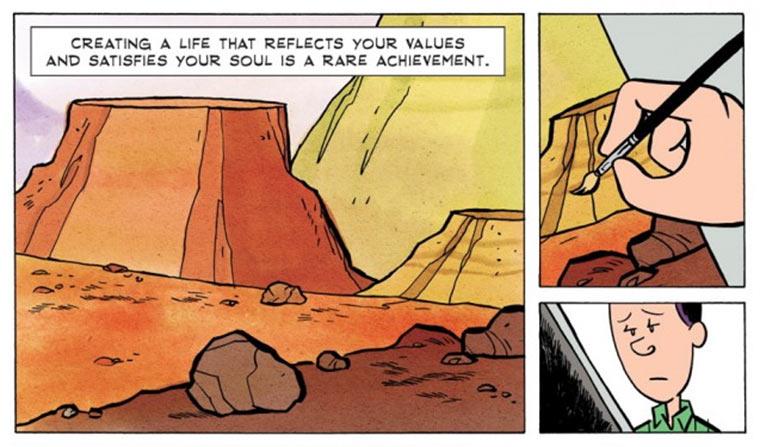 Comic: Erfüllung im Leben finden