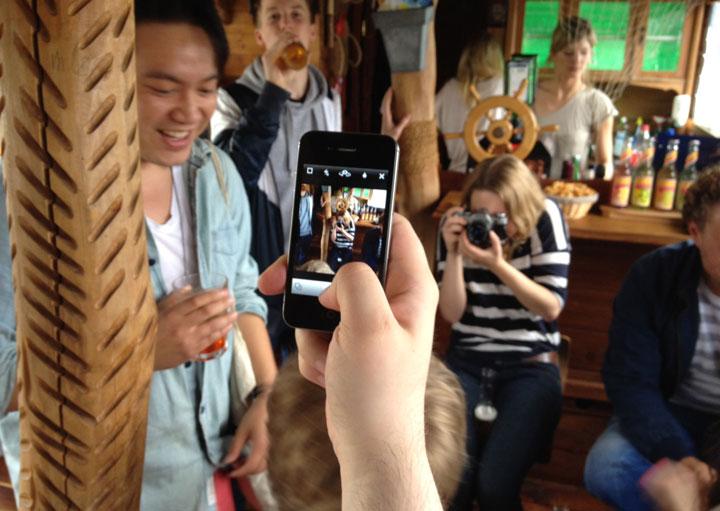 Ein Boot voller Blogger