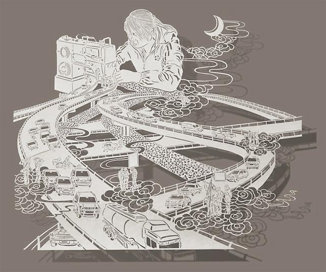 Detailreiche Papierschnittkunst