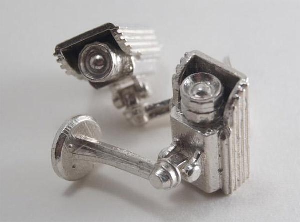 Überwachungskamera-Manschettenknöpfe