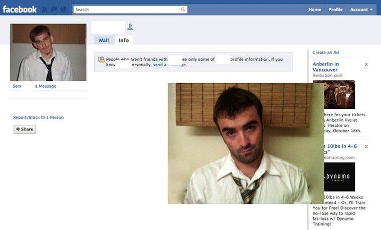 Typ stellt Facebook-Profilbilder Gleichnamiger nach und stellt ihnen Freundschaftsanfragen