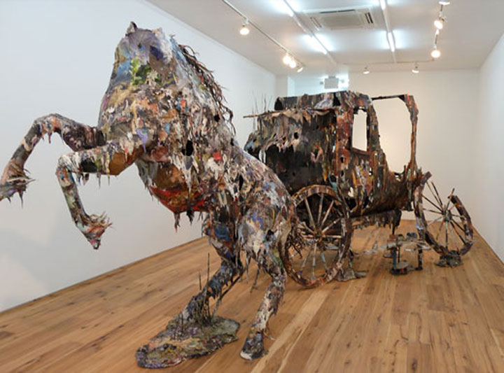 Creepy Sculptures Made out of Used Books