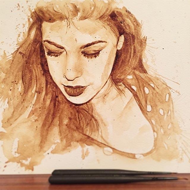 Gemälde aus Kaffee Coffee-drawings_02