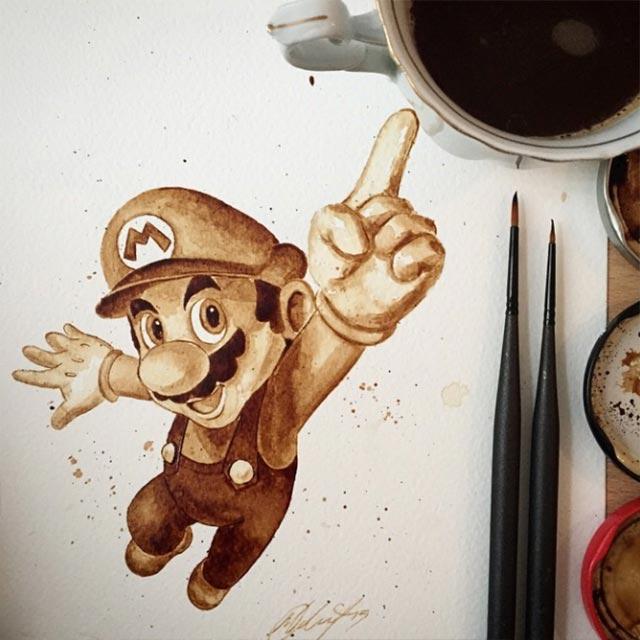 Gemälde aus Kaffee Coffee-drawings_06