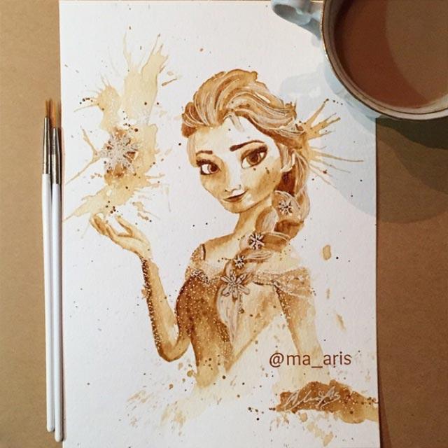 Gemälde aus Kaffee Coffee-drawings_07