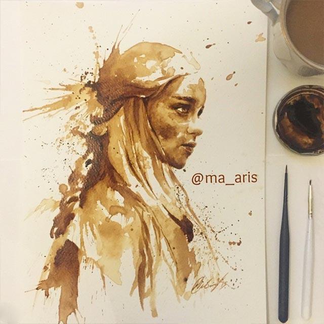 Gemälde aus Kaffee Coffee-drawings_09