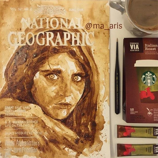Gemälde aus Kaffee Coffee-drawings_11