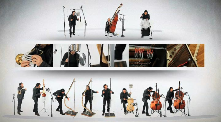 Ein ganzes Orchester aus alternativ konzepierten Instrumenten