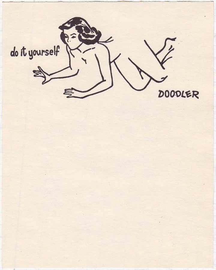 Zeichne zuende: Die halbnackte Frau