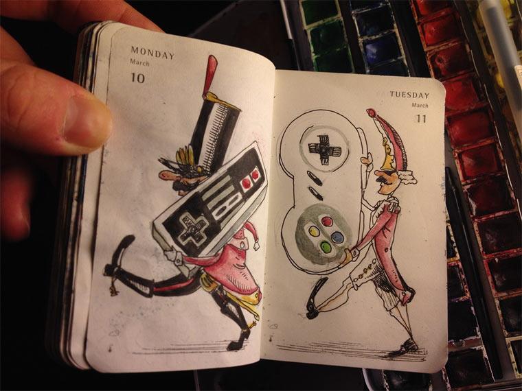 Animierter Streifzug durchs Notizbuch