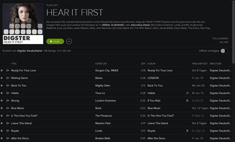 Playlist-Tipp: Digster – Hear It First