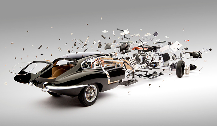 Fotografie: explodierende Autos