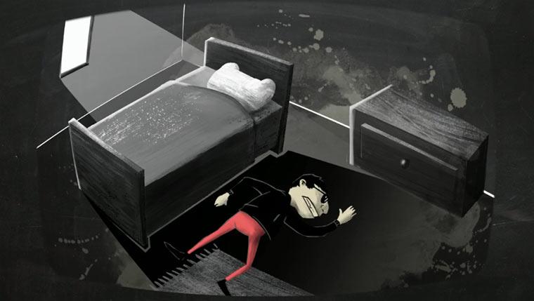 Animierter Blick auf den Hangover