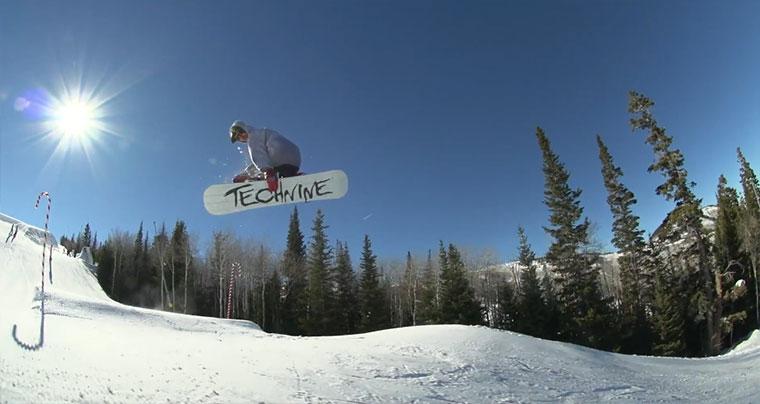 Snowboarding mit Dylan Thompson