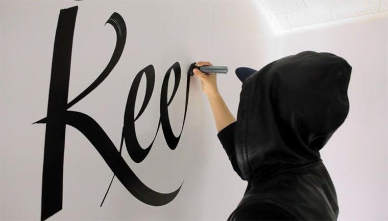 Graffiti Artist FAUST und sein Wandspruch