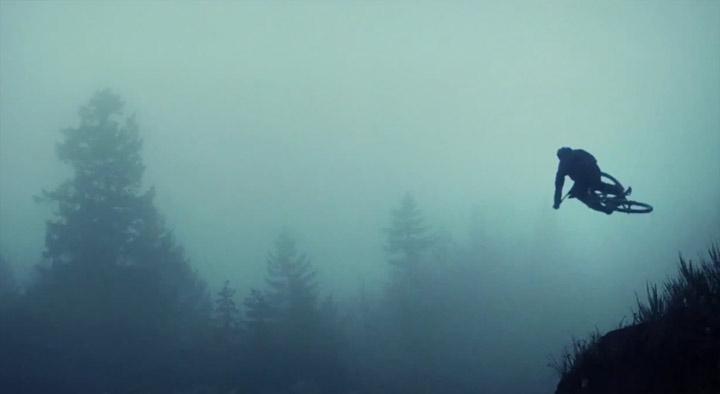 Freeride durch den Nebelwald