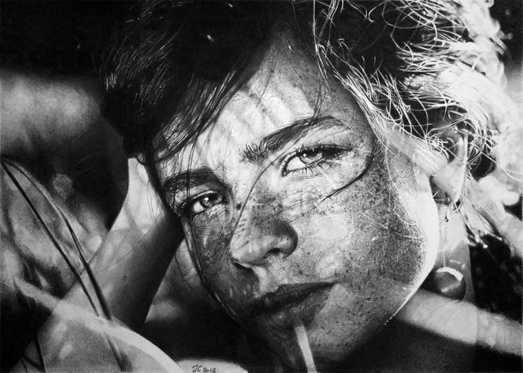 superrealistische Portraitzeichnungen: Franco Clun