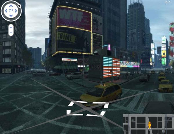 GTA IV in Google Streetview nachgebaut